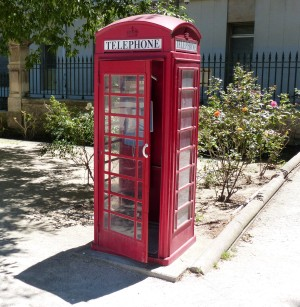 Avignon-cabine tel anglaise